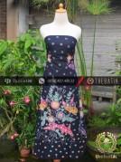 Batik Tulis Motif Bouquet Coletan Latar Hitam