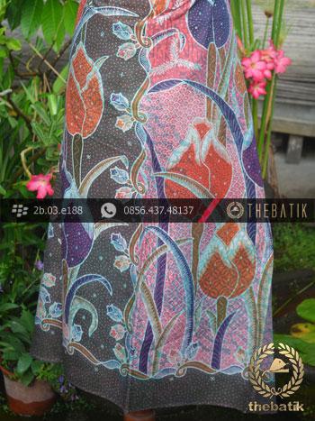 Batik Cap Tulis Motif Tulip Besar Kontemporer