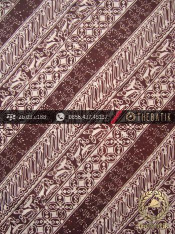 Batik Cap Jogja Motif Parang Seling Kawung Coklat