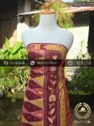 Sarung Batik Tulis Motif Tumpal Merah Kuning