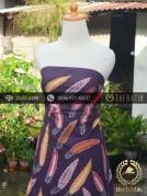 Batik Tulis Pesisir Motif Daun Latar Ungu