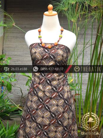 Kain Batik Warna Alam Motif Kawung Benggol-2