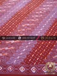 Batik Cap Tulis Motif Lereng Kelir Ungu Merah