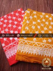 Harga Kain Batik Murah / Paket Kain Batik Merah Kuning