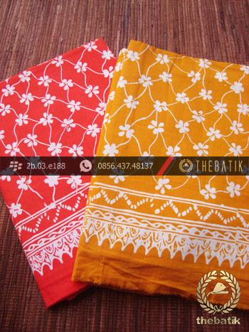 Harga Kain Batik Murah / Paket Kain Batik Merah Kuning | THEBATIK.co ...