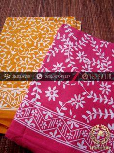 Harga Kain Batik Murah / Paket Kain Batik Pink Kuning