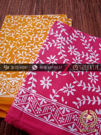 Harga Kain Batik Murah / Paket Kain Batik Pink Kuning | THEBATIK.co.id
