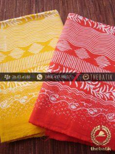 Harga Kain Batik Murah / Paket Kain Batik Kuning Jingga