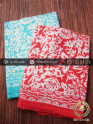 Harga Kain Batik Murah / Paket Kain Batik Biru Merah