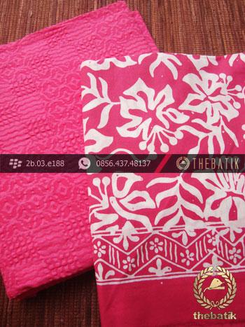 Paket Batik Kombinasi Bahan Emboss Pink