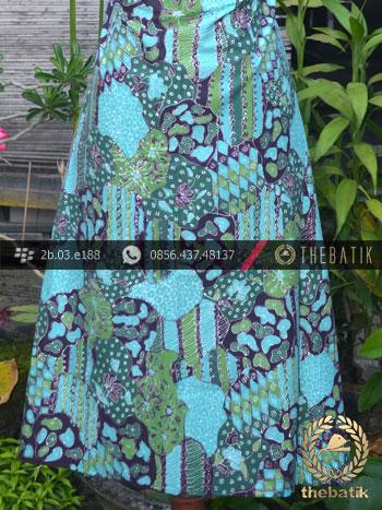 Batik Tulis Motif Sekarjagad Kontemporer Hijau Tosca