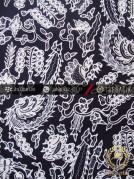 Kain Batik Tulis Jogja Motif Sri Kuncoro Latar Hitam