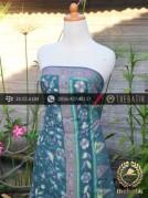 Sarung Batik Tulis Motif Tumpal Buketan Tosca