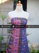 Sarung Batik Tulis Motif Tumpal Ungu Jambon