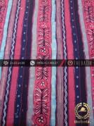 Kain Batik Kontemporer Motif Garis Biru Pink
