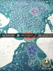 Kain Batik Cap Tulis Motif Pulau Kombinasi Tosca