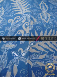 Kain Batik Tulis Warna Alam Indigo Motif Pakis Taji