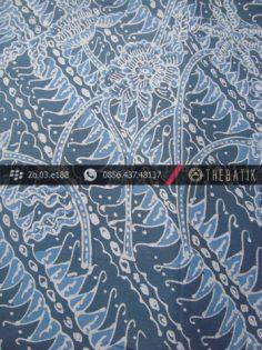 Kain Batik Tulis Warna Alam Indigo Motif Parang Buketan