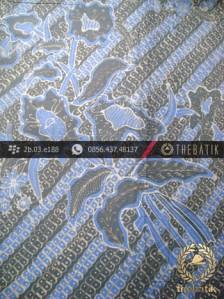 Kain Batik Tulis Warna Alam Indigo Motif Parang Buketan-2