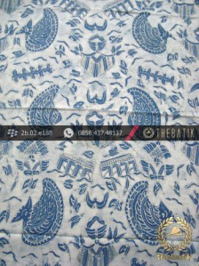 Kain Batik Tulis Warna Alam Indigo Semen Romo