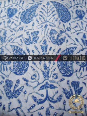 Kain Batik Tulis Warna Alam Indigo Motif Sido Asih