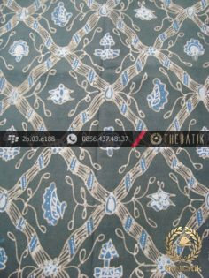 Kain Batik Tulis Warna Alam Motif Sido Luhur