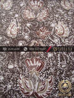 Kain Batik Tulis Warna Alam Motif Sido Mukti Coklat