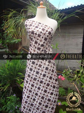 Kain Batik Klasik Jogja Motif Kembang Kawung Titik