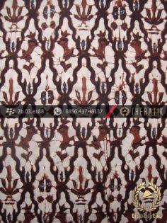 Kain Batik Klasik Jogja Motif Ceplok Kantil Sogan