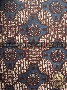 Kain Batik Klasik Jogja Motif Gurdo Besek Biru