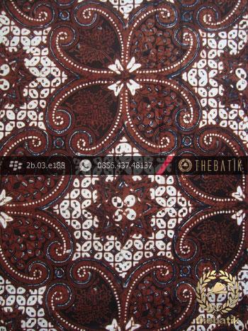 Kain Batik Klasik Jogja Motif Lereng Wirasat Kembang