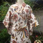 Jahit Baju Batik Wanita - Blouse Model Kimono