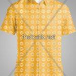 Pesan Batik Motif Sendiri - Design Seragam Batik Custom 2 Warna : Kuning, Oranye