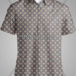 Jasa Cetak Batik Desain Sendiri - Design Seragam Batik Custom 3 Warna : Coklat, Biru, Kuning