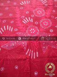 Batik Tulis Jogja Motif Buketan Kupu Merah