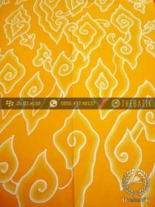 Batik Tulis Cirebon Motif Megamendung Kuning