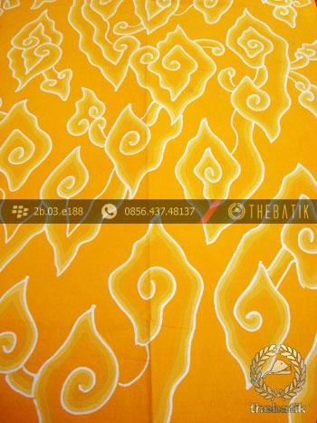 Jual Batik Tulis Cirebon Motif Megamendung Kuning Thebatik Co Id