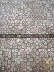 Batik Warna Alam Motif Ceplok Kawung Krem