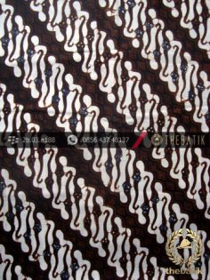 Kain Batik Klasik Jogja Motif Parang Centhung Sogan