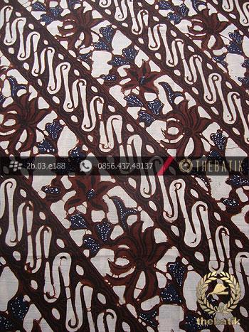 Batik Klasik Jogja Motif Parang Rusak Kembang