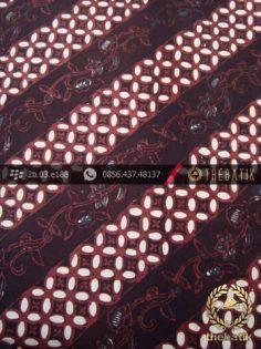 Kain Batik Klasik Jogja Motif Lereng Kembang Sogan