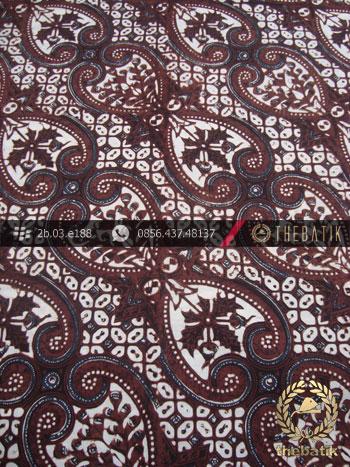 Batik Klasik Jogja Motif Lereng Wirasat Putih