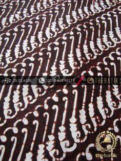 Kain Batik Klasik Jogja Motif Parang Canthel Hitam