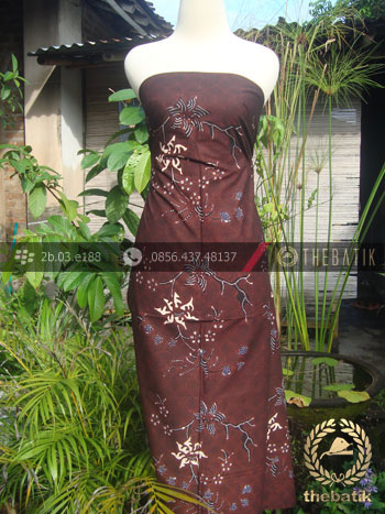 Batik Tulis Jogja Motif Buketan Latar Hitam-1