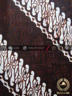 Kain Batik Klasik Jogja Motif Parang Sobrah Seling Hitam