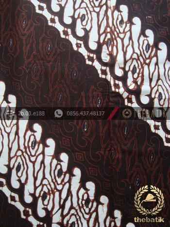 Batik Klasik Jogja Motif Parang Sobrah Seling Hitam