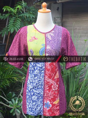 Model Baju Batik Kerja Wanita  Tambal Emboss  THEBATIKcoid