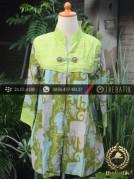 Model Baju Batik Kerja Kombinasi Embos Terbaru