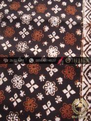 Kain Batik Cap Motif Ceplok Kembang Bintang Sogan