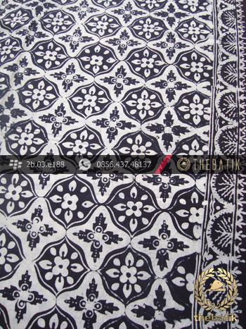 Kain Batik Cap Motif Ceplok Kembang Hitam